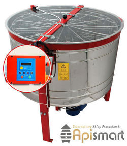 Cassette honey extractor, Ø1200mm, 12 Dadant, with half automatic steering and partitions