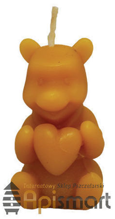 Silicone mould for candles' making – Bear with heart (H-5cm)