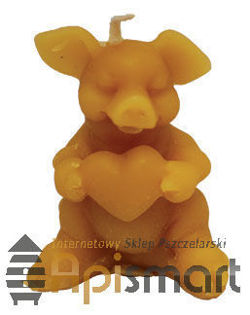 Silicone mould for candles' making – Piggie with heart (H-4,5cm)