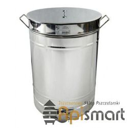 Stainless settler 100l with handles with a stainless strainer