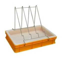 Uncapping tray (H=100mm, plastic sieve)